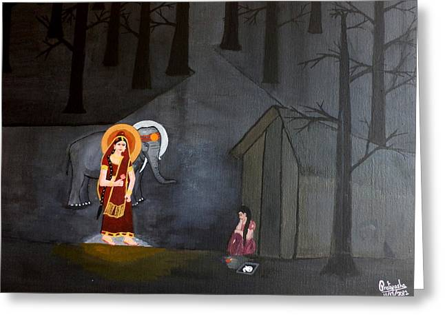 Deepavali Night Greeting Card by Pratyasha Nithin