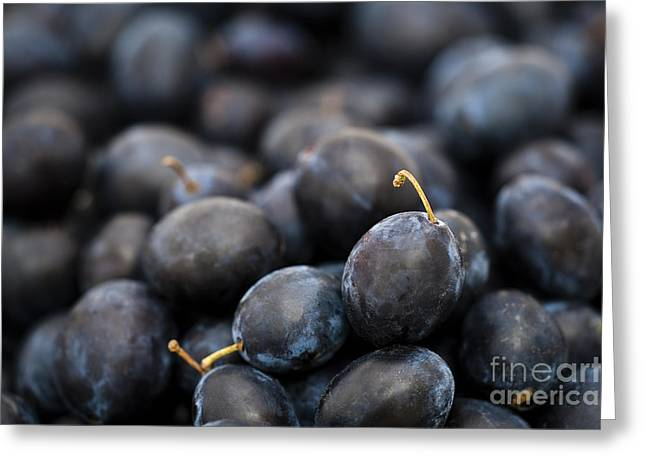Mound Greeting Cards - Deeply Damson Greeting Card by Anne Gilbert