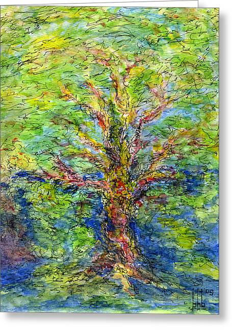 Tree Roots Paintings Greeting Cards - Deeply Rooted Greeting Card by Bruce Blanchard