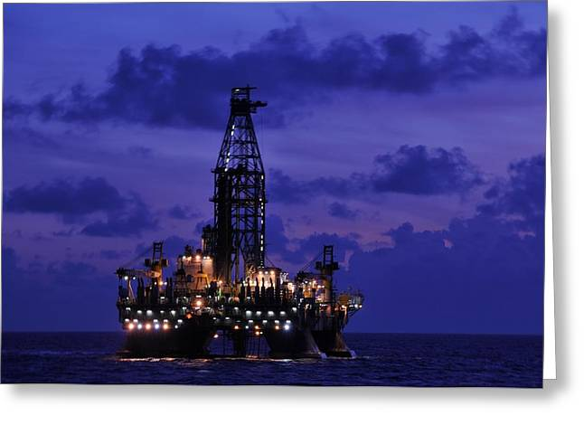 Sea Platform Greeting Cards - Deepwater Horizon Revisited Greeting Card by Bradford Martin