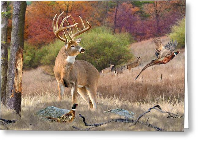 Wildlife Art Acrylic Prints Greeting Cards - Deer Art - His Name is Prince Greeting Card by Dale Kunkel Art