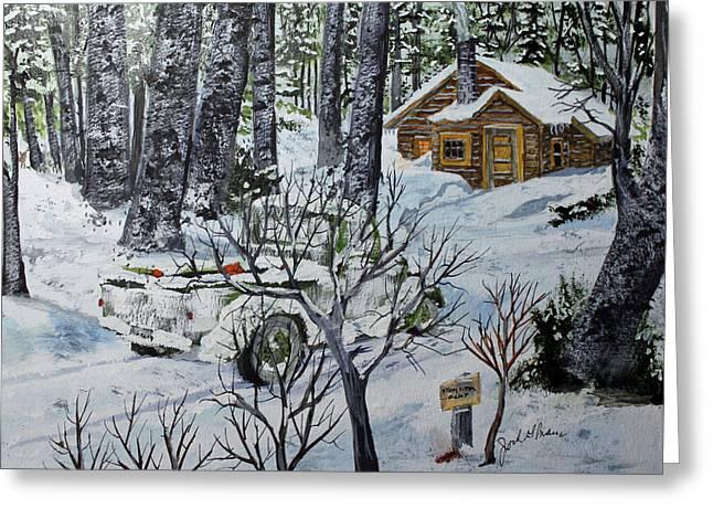Deer Camp Greeting Cards - Deer Camp 141114 Greeting Card by Jack G  Brauer