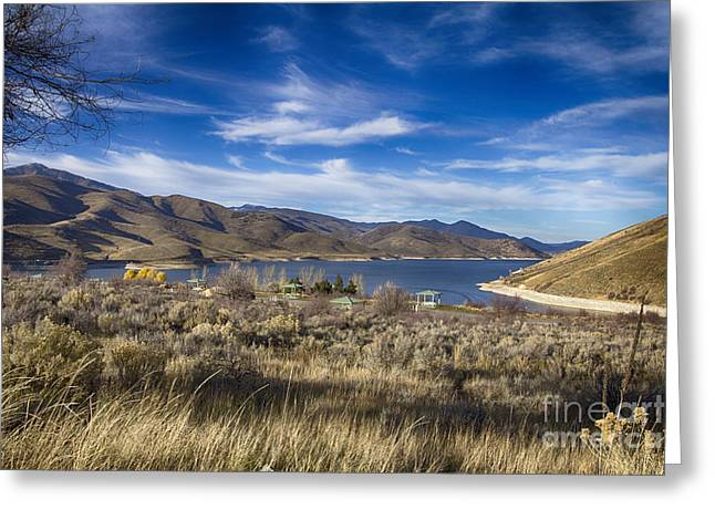Deer Creek Greeting Cards - Deer Creek Dam-Provo Utah Greeting Card by Douglas Barnard