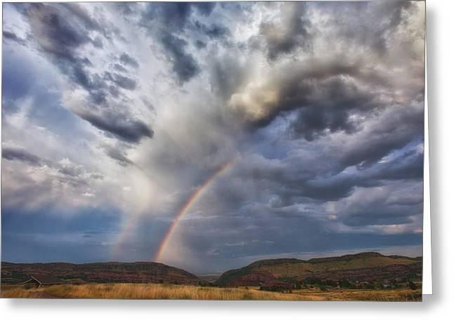 Deer Creek Storm Greeting Card by Darren  White