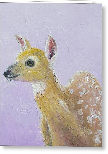 Christmas Card Ideas Greeting Cards - Deer Fawn Greeting Card by Jan Matson