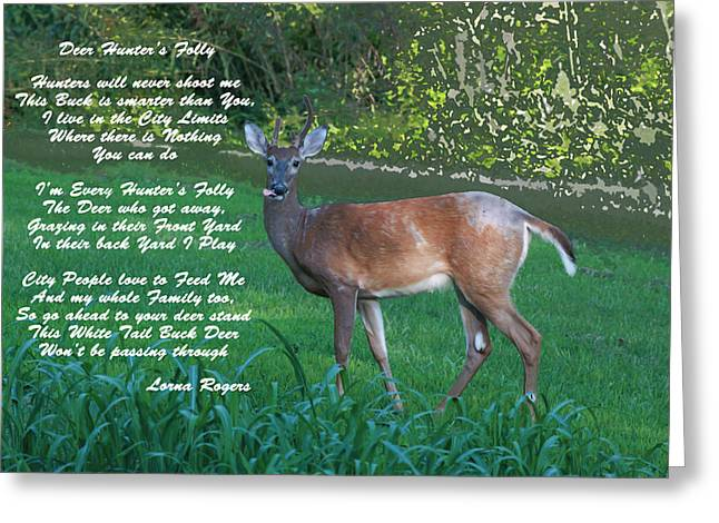 Inspirational Wildlife Prints Greeting Cards - Deer Hunters Folly Greeting Card by Lorna Rogers Photography
