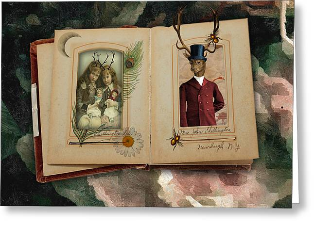 Deer Old Dad Greeting Card by Bellesouth Studio