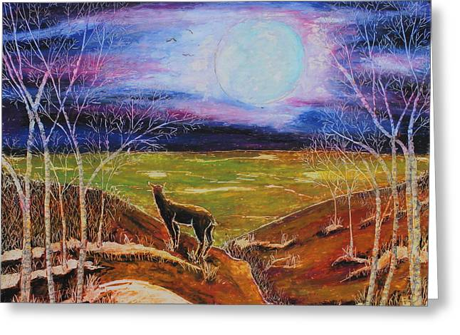 Majestic Pastels Greeting Cards - Deer On The Plain Greeting Card by Jeanne Fischer