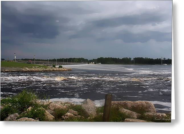 Generators Greeting Cards - Deer Point Dam Greeting Card by Debra Forand