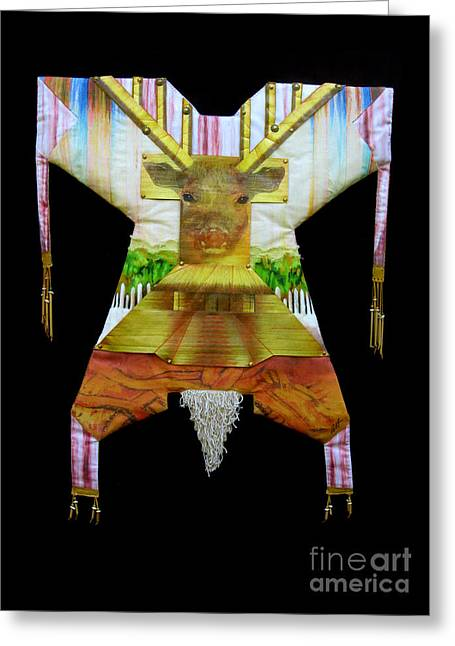 Mound Mixed Media Greeting Cards - Deer Power Dress  Greeting Card by Alyssa Hinton