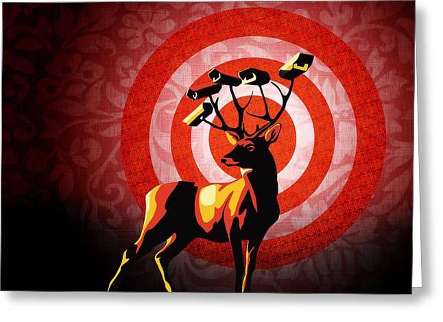 Deer Watch Greeting Card by Sassan Filsoof