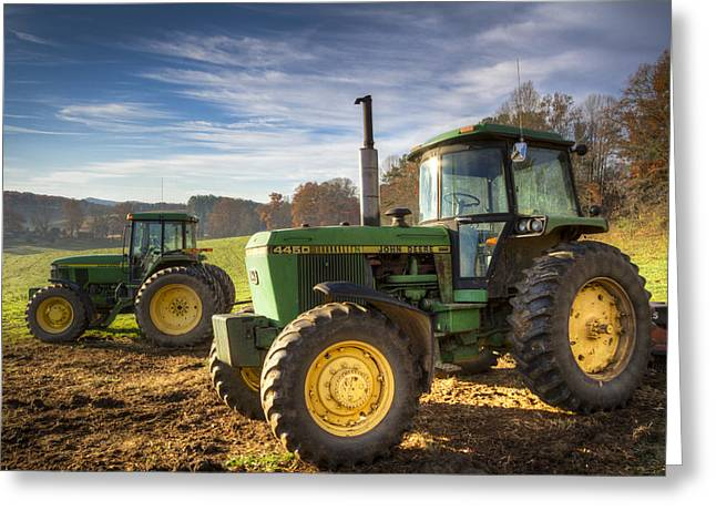 Tennessee Barn Greeting Cards - Deere Brothers Greeting Card by Debra and Dave Vanderlaan