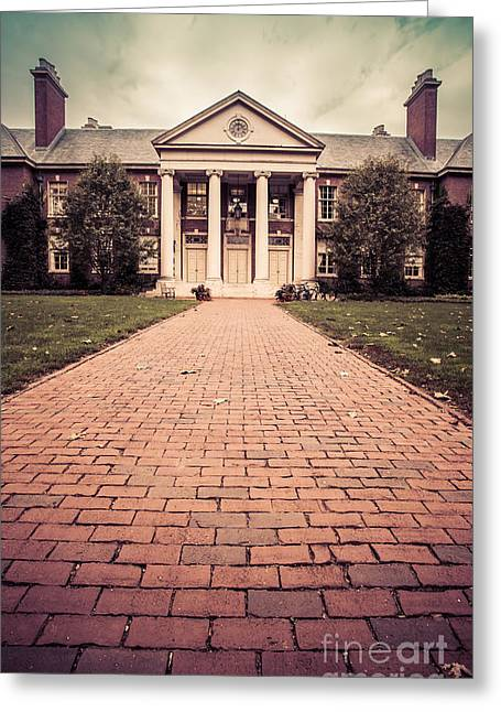Finishing Greeting Cards - Deerfield Academy Greeting Card by Edward Fielding