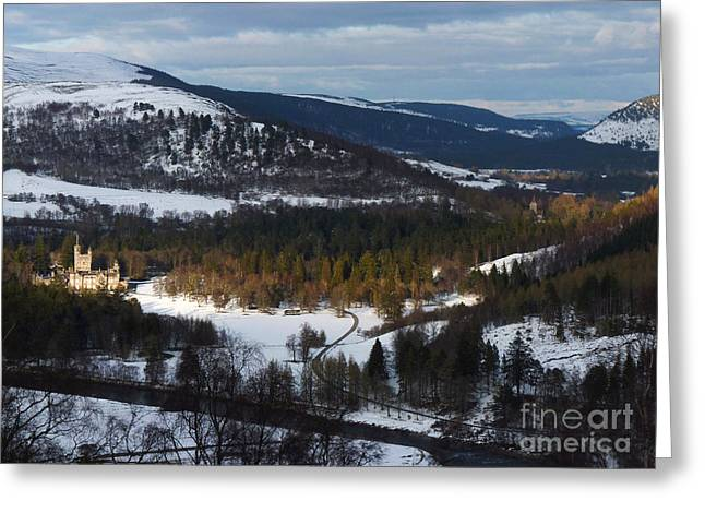 Balmoral Greeting Cards - Deeside by Balmoral Castle in Winter Greeting Card by Phil Banks