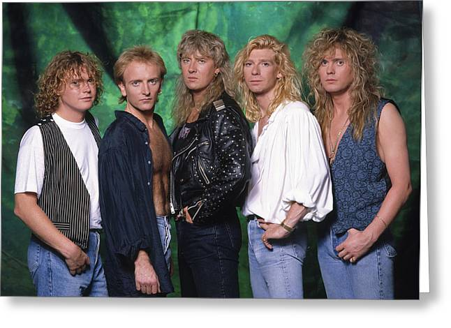 Def Leppard Greeting Cards - Def Leppard - 15 Months of Rock 1987 Greeting Card by Epic Rights