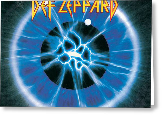 1992 Greeting Cards - Def Leppard - Adrenalize 1992 Greeting Card by Epic Rights