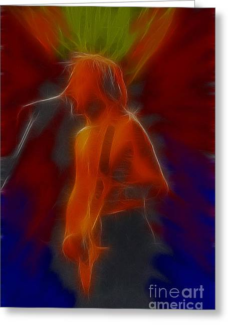 Def Leppard Greeting Cards - Def Leppard-Adrenalize-GB13-Phil-Fractal Greeting Card by Gary Gingrich Galleries