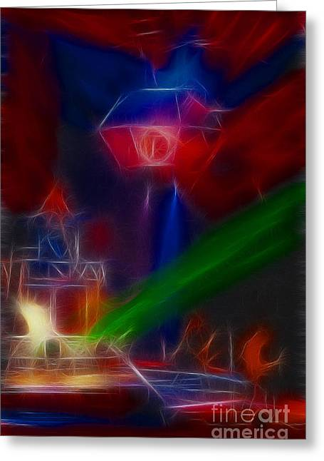 Def Leppard Greeting Cards - Def Leppard-Adrenalize-GF12-Fractal Greeting Card by Gary Gingrich Galleries