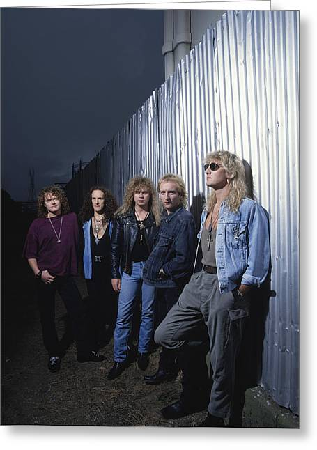 Def Leppard Greeting Cards - Def Leppard - Adrenalize Me 1992 Greeting Card by Epic Rights
