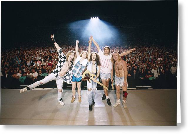 Def Leppard Greeting Cards - Def Leppard - Adrenalize Tour 1992 - On Stage Greeting Card by Epic Rights