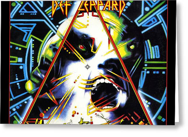 Noon Greeting Cards - Def Leppard - Hysteria 1987 Greeting Card by Epic Rights