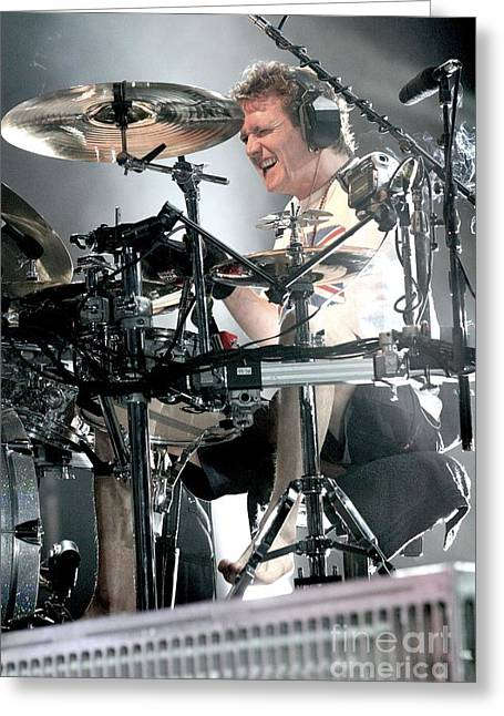 Def Leppard Greeting Cards - Def Leppard Greeting Card by Front Row  Photographs