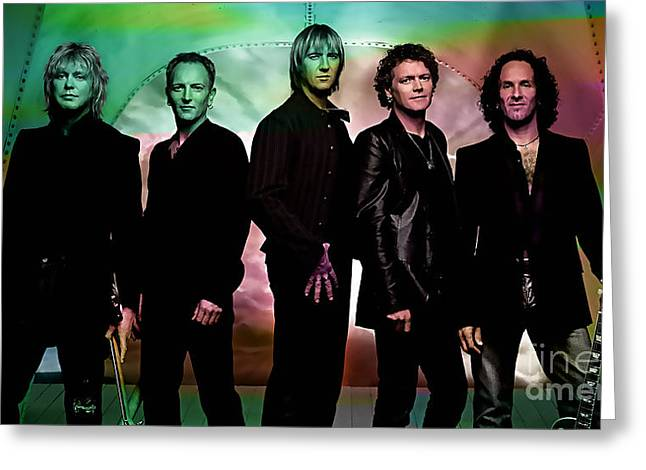 Def Leppard Greeting Cards - Def Leppard Greeting Card by Marvin Blaine