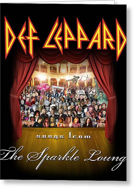 Def Leppard Greeting Cards - Def Leppard - Songs from the Sparkle Lounge 2008 Greeting Card by Epic Rights