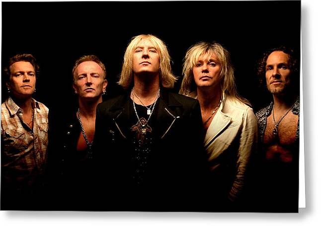 Music Greeting Cards - Def Leppard - Sparkle Lounge Tour 2008 Greeting Card by Epic Rights