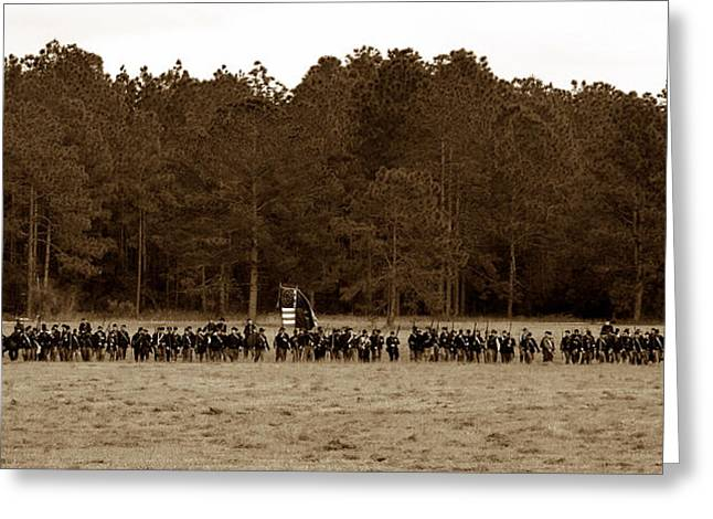 Skirmish Line Greeting Cards - Defence of the Republic Greeting Card by David Lee Thompson
