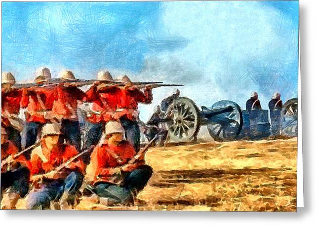 Battlefield Site Digital Art Greeting Cards - Defend the Artillery Greeting Card by Digital Photographic Arts