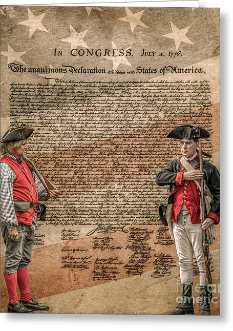 Minuteman Greeting Cards - Defenders of Independence Greeting Card by Randy Steele
