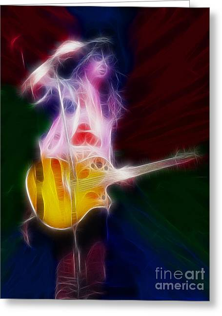Def Leppard Greeting Cards - Deff Leppard-Adrenalize-Joe-GF25-Fractal Greeting Card by Gary Gingrich Galleries