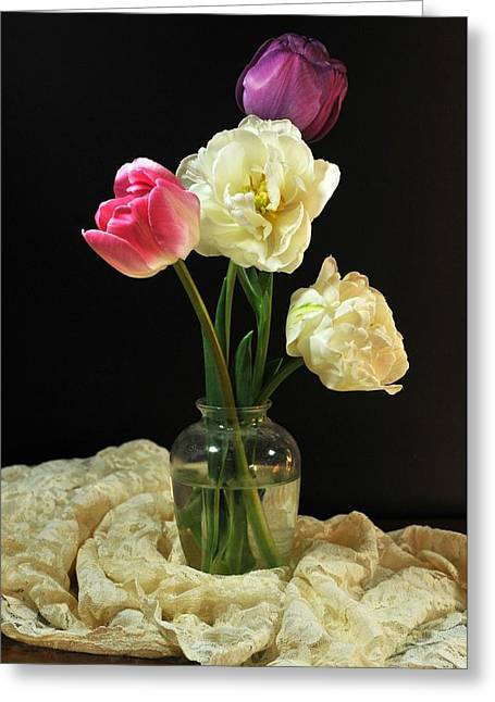Vase Of Flowers Greeting Cards - Defining Grace Greeting Card by Diana Angstadt