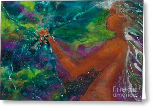 Empower Greeting Cards - Defining Her Essence Greeting Card by Ilisa  Millermoon