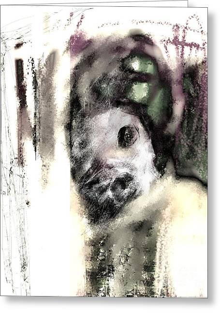 Deformed Personality Greeting Card by Ruth Clotworthy