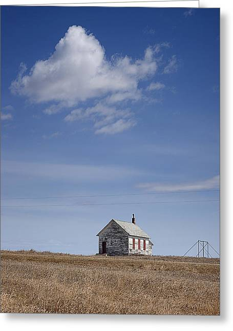 Old School House Greeting Cards - Defunct One Room Country School Greeting Card by Donald  Erickson