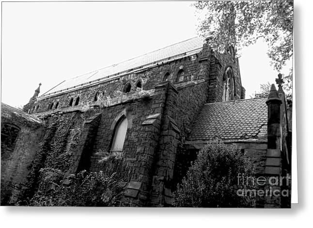 Catherdral Greeting Cards - Defunct Parish 1 Greeting Card by James Aiken