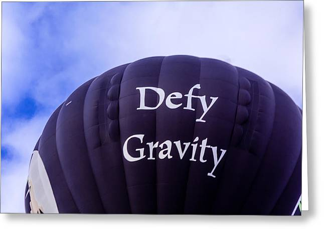 Weightless Greeting Cards - Defy Gravity Greeting Card by Teri Virbickis