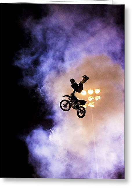 Stunts Greeting Cards - Defying Gravity Greeting Card by Caitlyn  Grasso