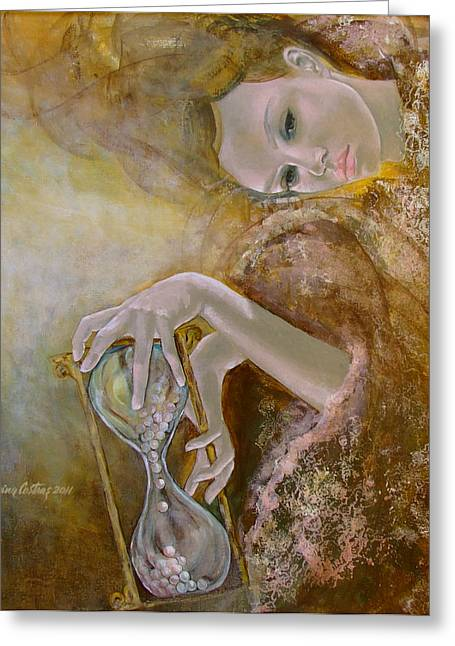 Live Paintings Greeting Cards - Deja vu Greeting Card by Dorina  Costras