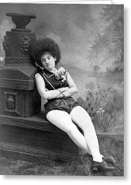Dejected Vaudeville Performer Greeting Card by Underwood Archives