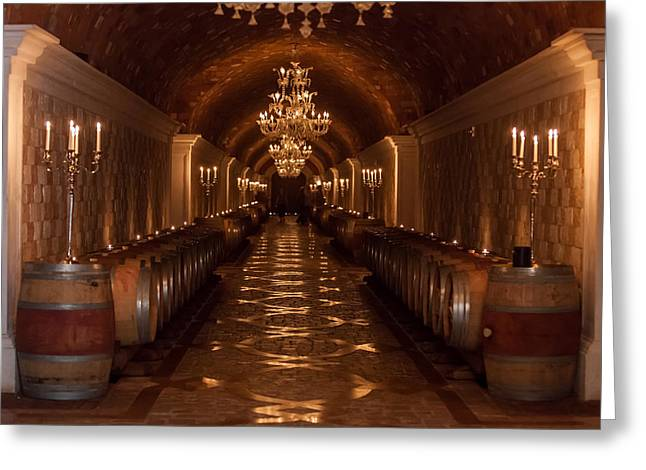 Candel Greeting Cards - Del Dotto Wine Cellar Greeting Card by Scott Campbell