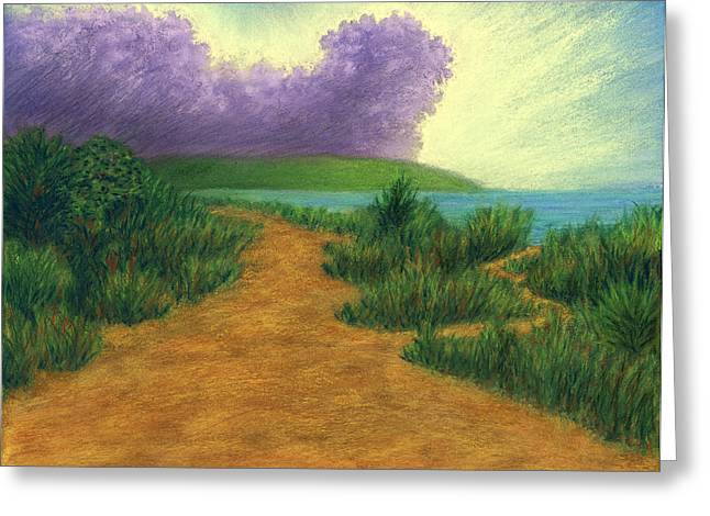 Planets Pastels Greeting Cards - Del Mar Trails 03 Greeting Card by Michael Heikkinen