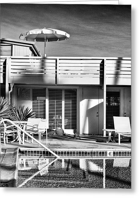Pool Deck Greeting Cards - DEL MARCOS Palm Springs Greeting Card by William Dey