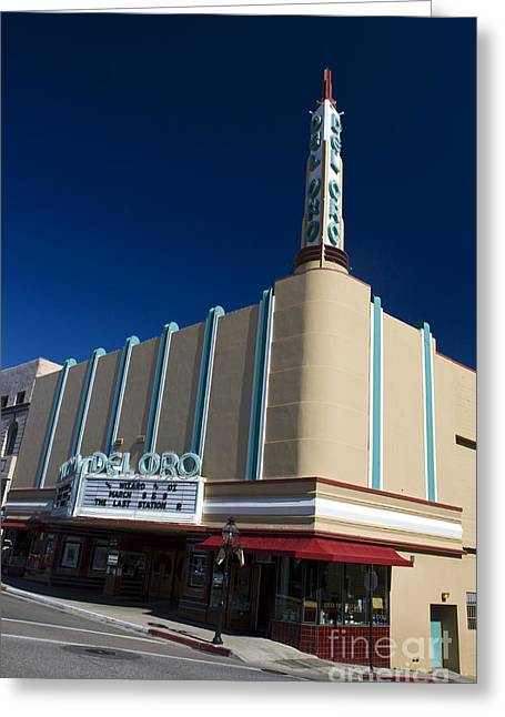 Outdoor Theater Greeting Cards - Del Oro Theatre Grass Valley California Greeting Card by Jason O Watson
