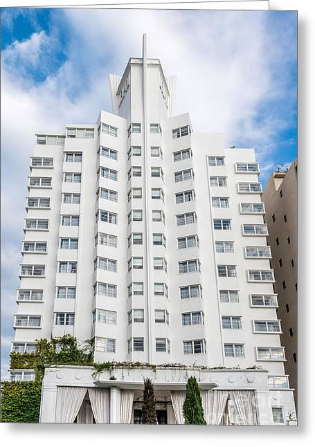 1930s Greeting Cards - Delano Hotel - South Beach - Miami - Florida Greeting Card by Ian Monk
