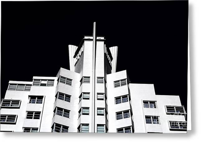 Hotel Window Greeting Cards - Delano Greeting Card by John Rizzuto