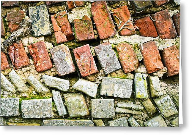 Firm Greeting Cards - Delapidated wall Greeting Card by Tom Gowanlock
