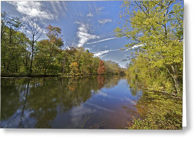David Letts Greeting Cards - Delaware and Raritan Canal Greeting Card by David Letts